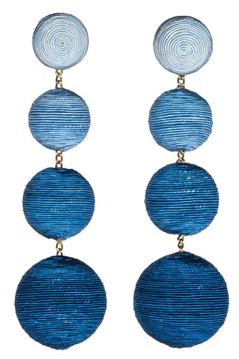 "<p><em><strong>Les Bonbons by Rebecca De Ravenel</strong><strong></strong> earrings</em><em>, $275 (similar, pre-order), <strong><a href=""https://shop.harpersbazaar.com/designers/r/rebecca-de-ravenel/navy-les-bonbons-earrings-9539.html"" target=""_blank"">shopBAZAAR.com</a></strong>. </em></p>"