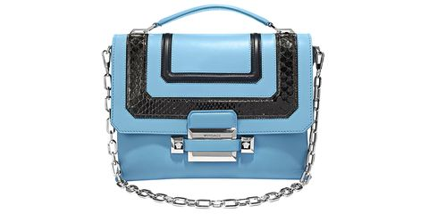 <p><strong>Versace</strong> bag, $3,450, Similar styles available at 888-721-7219. </p>