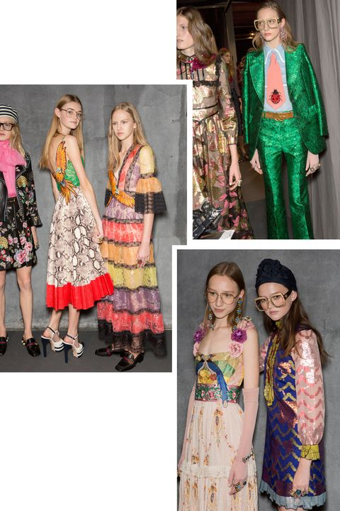 <p>Gucci's spring 2016 collection is the pioneer of the geek-chic look.</p>