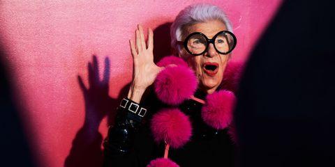 Eyewear, Glasses, Vision care, Finger, Wrist, Cool, Magenta, Gesture, Fur, Watch,