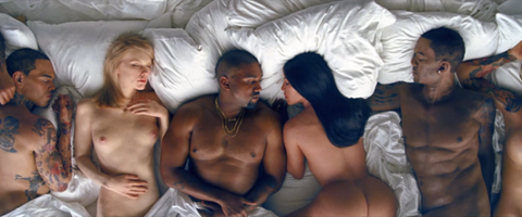 """Kanye West's """"Famous"""" Video Includes Taylor Swift, Kim Kardashian, Donald Trump & More Naked in Bed"""