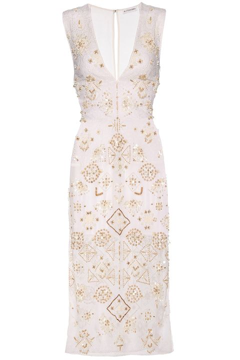 "<p><em>""Pamplona"" beaded cotton dress, $6,640, <a href=""http://www.mytheresa.com/en-de/pamplona-beaded-cotton-dress-582953.html?catref=category"" target=""_blank"">mytheresa.com</a>.</em></p>"