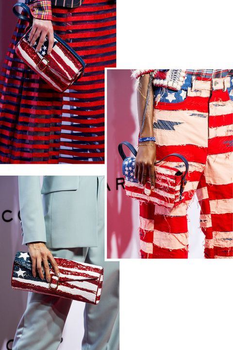 <p>Marc Jacobs paid homage to the American flag in many a motif at his spring 2016 show. </p>
