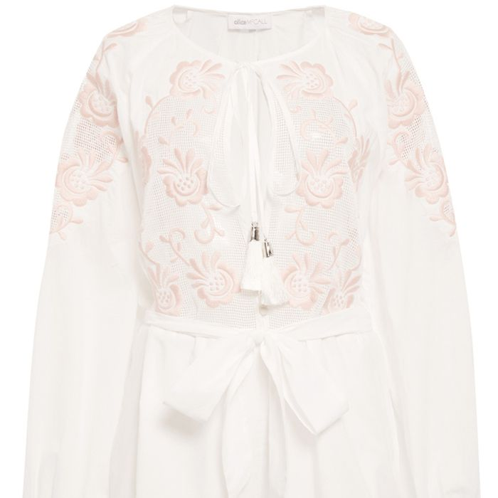 """<p><strong>Alice McCall </strong>romper, $170, <a href=""""http://www.alicemccall.com/lolita-playsuit-white.html"""" target=""""_blank"""">alicemccall.com</a>. </p>"""
