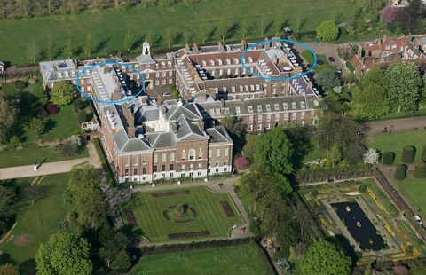 <p>While Will and Kate own Apartment 1A (circled on right), Charles and Diana previously lived in Apartment 8, which just received a two-year renovation. </p>