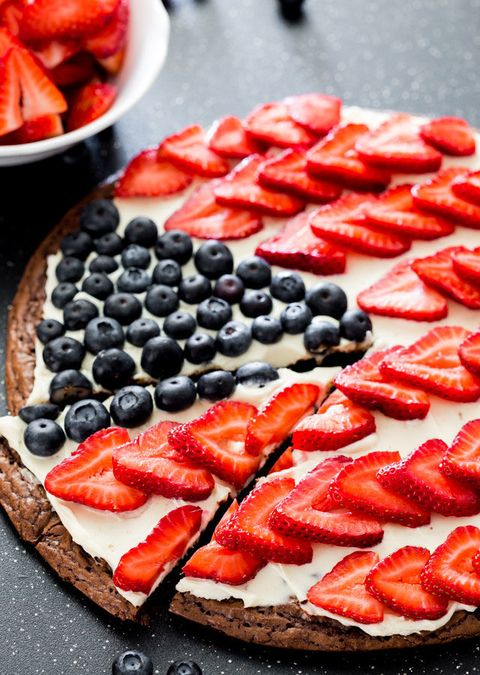 "<p>Pizza for dessert? Go for it—it's a holiday, after all.</p><p>Get the recipe at<a href=""http://www.jocooks.com/desserts-2/red-white-and-blue-brownie-pizza/"" target=""_blank""> Jo Cooks.</a> </p>"