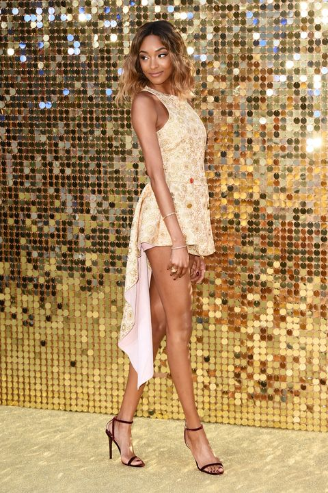 Clothing, Footwear, Human leg, Shoe, Joint, High heels, Sandal, Style, Fashion model, One-piece garment,