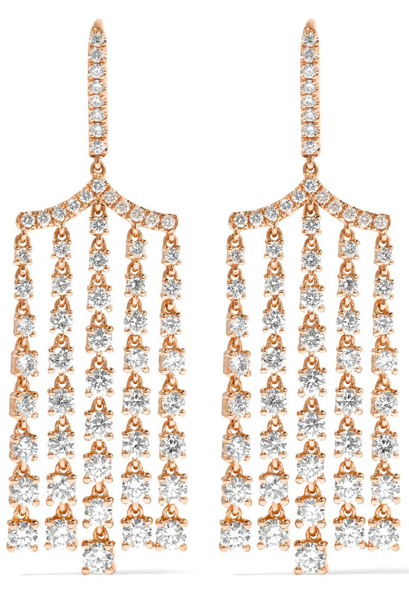 "<p>Anita Ko rose gold and diamond earrings, $19,225, <a href=""https://www.net-a-porter.com/us/en/product/690918/Anita_Ko/18-karat-rose-gold-diamond-earrings"">net-a-porter.com</a>.</p>"