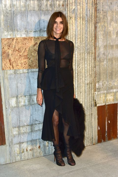 <p><strong>Lesson learned</strong>: Embrace the LBD.</p><p><br></p><p>Your mother may be most comfortable in black, and let's face it–it's chic. Laces and beading look most expensive in the darkest hue, and women that have the figure to pull it off–like BAZAAR's own Carine Roitfeld–know it's the best way to don something slightly sheer and subtly sexy, without the look going raunchy. </p>