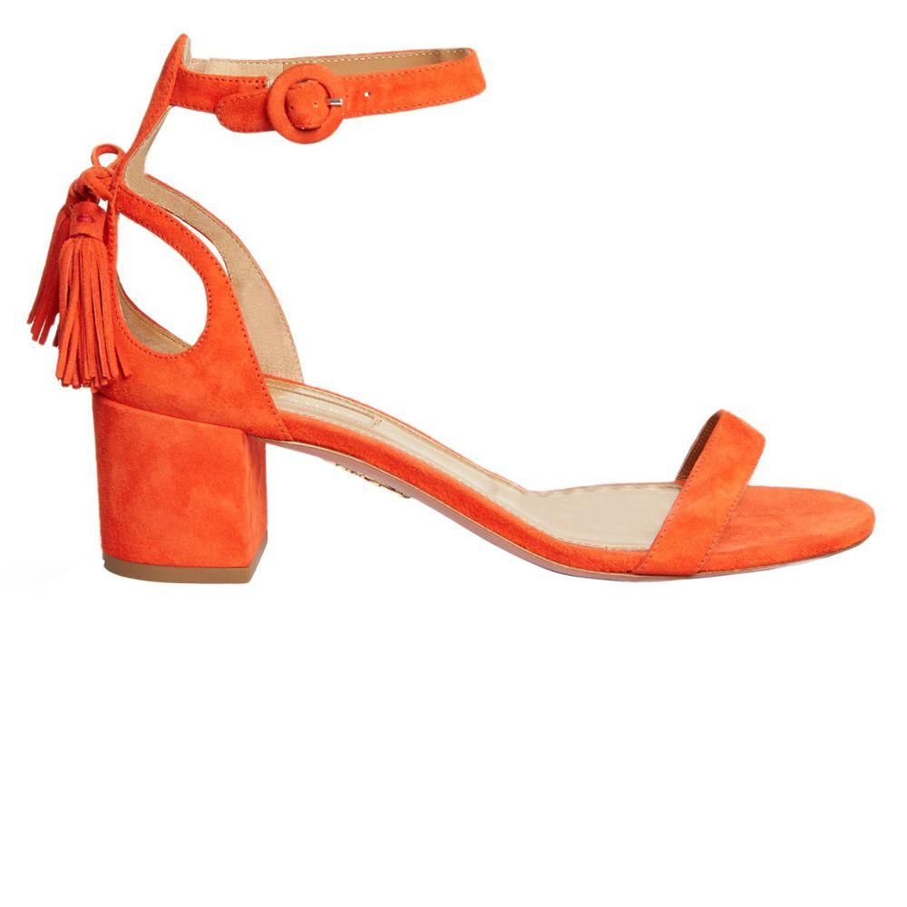 "<p><strong>Aquazzura</strong> sandal, $695, <a href=""http://www.matchesfashion.com/us/products/Aquazzura-Pixie-tassel-back-suede-sandals-1052529"" target=""_blank"">matchesfashion.com</a>. </p>"