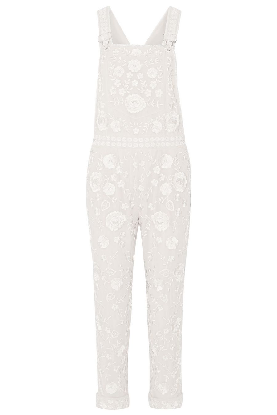 "<p><strong>Needle & Thread</strong> overalls, $650, <a href=""https://www.net-a-porter.com/us/en/product/706052/needle_and_thread/embellished-georgette-overalls"" target=""_blank"">netaporter.com</a>. </p>"
