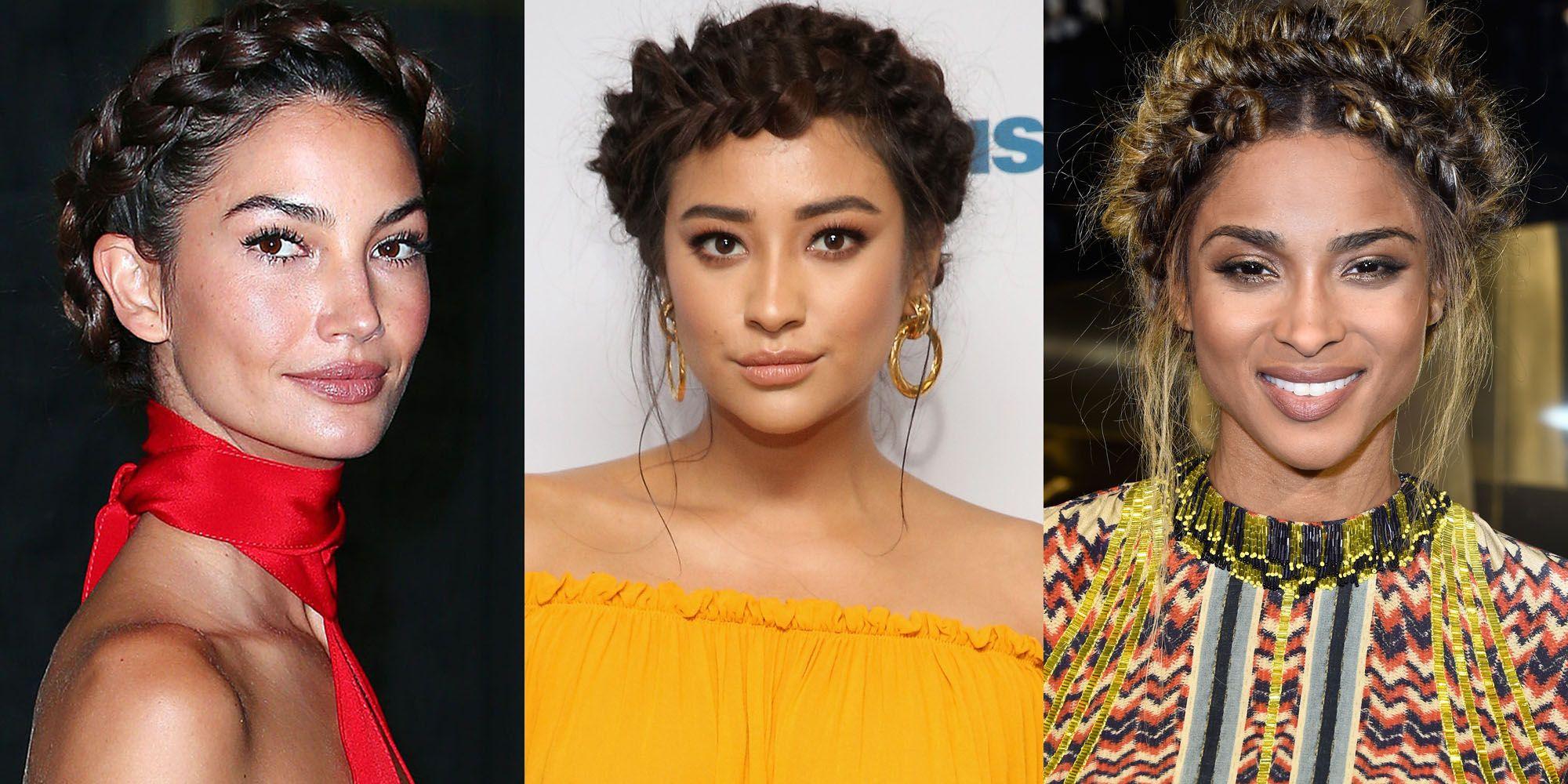 2019 year style- Hair celebrity trend crown braids