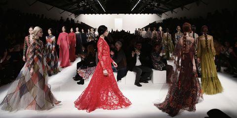 Dress, Formal wear, Gown, Fashion, Costume design, Hall, Haute couture, Fashion design, Fashion model, One-piece garment,