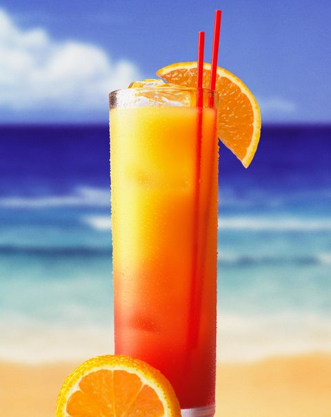 """<p>Mick Jagger first had the Tequila Sunrise — a cocktail made with orange juice, tequila, and grenadine — while partying at a San Francisco bar called the Trident in 1972. The Rolling Stones drank enough of the stuff that Keith Richards later revealed that the tour was known as """"the cocaine and Tequila Sunrise tour."""" The drink got so popular that the next year, the Eagles released a song called """"Tequila Sunrise."""" </p>"""