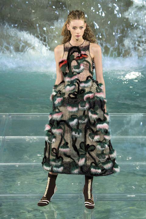Clothing, Dress, Shoulder, One-piece garment, Fashion model, Summer, Waist, Day dress, Beauty, Teal,