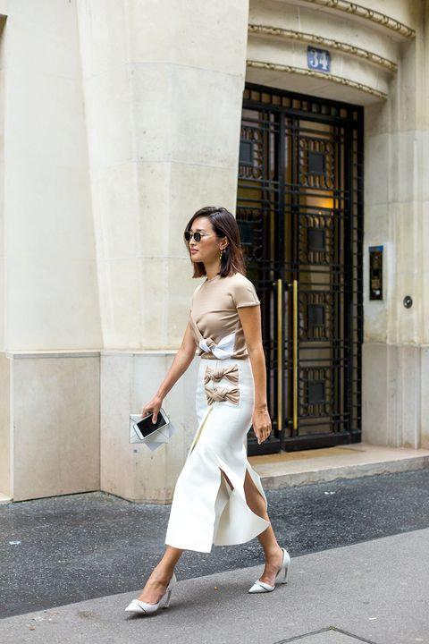 Clothing, Shoulder, Human leg, Shoe, Joint, Standing, Style, Elbow, Dress, Street fashion,