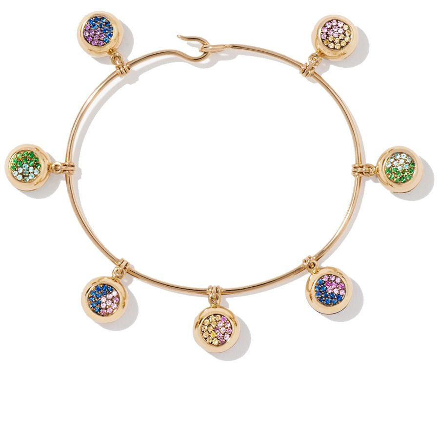 """<p><strong>Aurélie Bidermann</strong> bracelet, $18, 085, <a href=""""http://usd.aureliebidermann.com/en/bracelets/383-multi-bells-bracelet.html"""" target=""""_blank"""">aureliebidermann.com</a>. </p>"""
