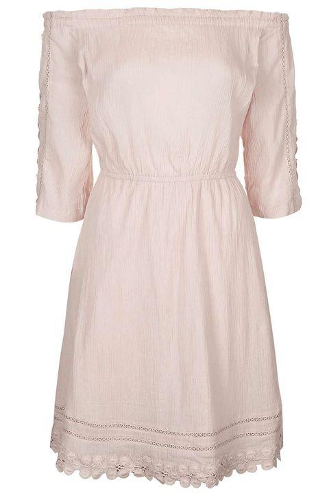 "<p><strong>Topshop</strong> dress, $70, <a href=""http://us.topshop.com/en/tsus/product/daisy-detailed-bardot-dress-5653433?bi=20&ps=20"" target=""_blank"">topshop.com</a>. </p>"