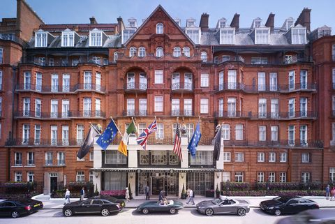 "<p>We dubbed this hotel <a href=""http://www.harpersbazaar.com/culture/travel-dining/a16789/claridges-london/"" target=""_blank"">the best in the world</a>–and we mean it. This place is where traditional décor and modern convenience merge to meet guests' high standards, while leaving them with a personalized level of service most find addictive and unforgettable. ""We really believe our attention to detail is second to none,"" shared the hotel's General Manager Paul Jackson. ""We ensure that our attention to details and service touches give us the competitive edge; we respect our history but we don't live in it."" Celebrities abound in this hotel, which can feel like the center of the universe during key cultural events like London Fashion Week, The Chelsea Flower Show and royal weddings. Guests in one of <a href=""http://www.claridges.co.uk/"" target=""_blank"">Claridge's</a> 197 rooms can enjoy access to their lobby salon and restaurant, which serves its famous afternoon tea daily in two seatings. The hotel's namesake bar and The Fumoir, a swanky champagne lounge, also add to the experience, giving guests two different atmospheres in which to enjoy a pre-dinner cocktail or nightcap. Foodies will no doubt head straight for <a href=""http://feraatclaridges.co.uk/"" target=""_blank"">Fera</a>, the hotel's neo-English restaurant by Michelin-starred chef Simon Rogan, who modernized foraging into a high-dining experience where all ingredients are farmed and sourced locally. Aulis, the restaurant's laboratory-meets-dinner table, seats a maximum of six guests who are lucky enough to dine on dishes that haven't yet graced the Fera menu. Small details are never forgotten here, despite the hotel's bustling feel: McQueen's, the hotel's in-house florist, dressmaker Nicholas Oakwell and Assouline all have shops in-house. And guests that haven't packed for rain need not worry–the hotel offers complimentary use of Burberry trench coats to all guests during their stay.</p><p><br></p><p><em><a href=""http://www.claridges.co.uk/contact/"" target=""_blank"">Claridge's</a>; Brook Street, Mayfair, London W1K 4HR, +44 020 7629 8860</em><em>.</em><br></p>"