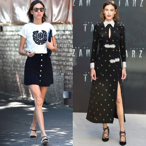 <p>Alexa Chung is part Jane Birkin insouciance, part elegant sophisticate—and she's rarely met a white collar she didn't like. </p>