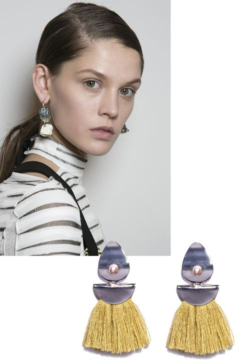 """<p>An organic element added to an otherwise sophisticated ensemble is just what you need to bring an outfit down to earth.</p><p><em>Lizzie Fortunato</em><span class=""""redactor-invisible-space""""><em> earrings, $175, <a href=""""https://shop.harpersbazaar.com/l/lizzie-fortunato/mustard-rain-dance-earrings-9698.html"""" target=""""_blank""""><strong>shopBAZAAR.com</strong></a>. </em><br></span></p>"""