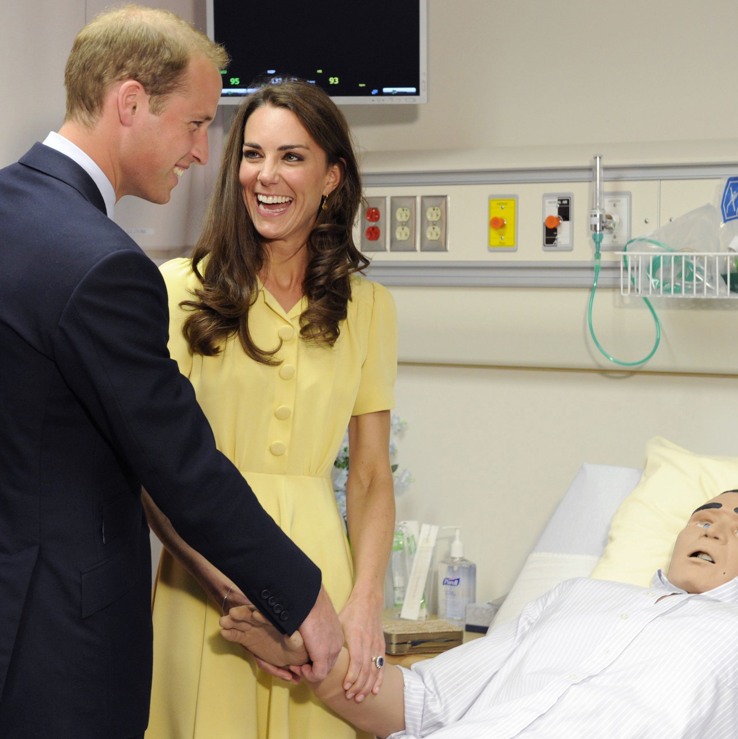 will and kate laughing