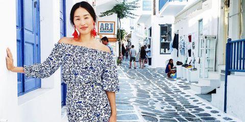 Street fashion, Day dress, Design, Waist, Cobblestone, Makeover, Pattern, One-piece garment,