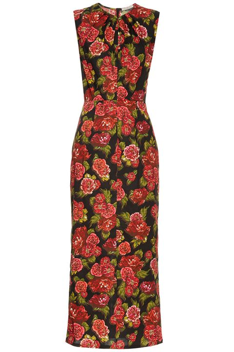 "<p><em>Emilia Wickstead dress, $849, <a href=""http://www.matchesfashion.com/products/Emilia-Wickstead-Carrie-floral-print-midi-dress-1054845"" target=""_blank"">matchesfashion.com</a>. </em></p>"