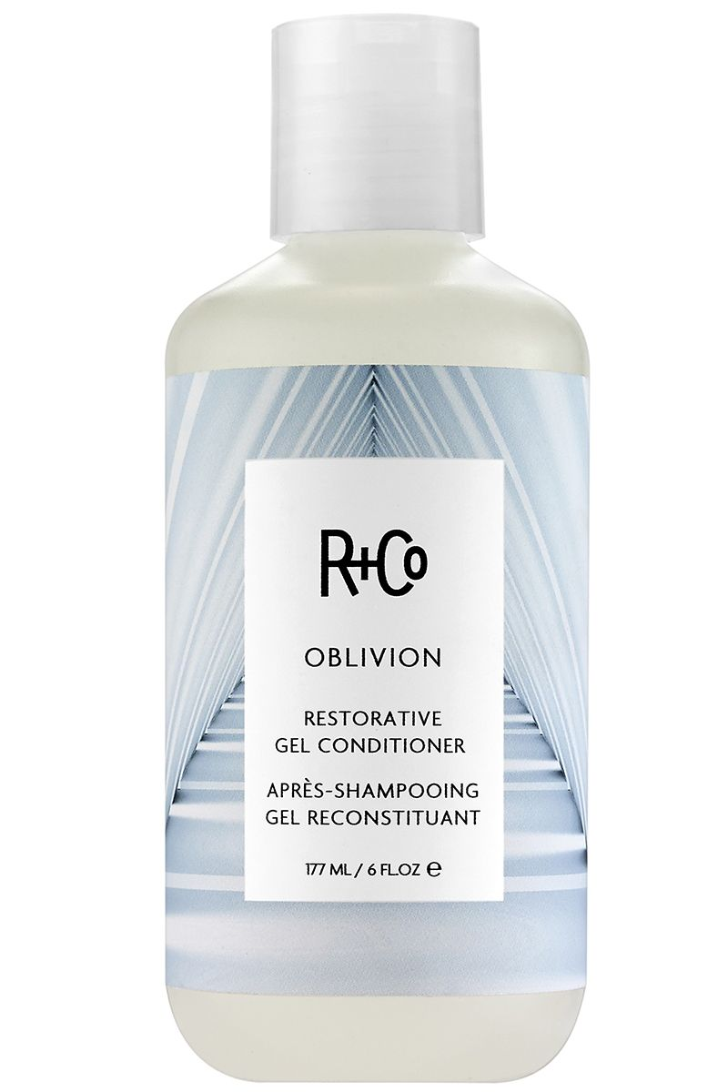 "<p><strong>R+Co</strong> Restorative Gel Oblivion Conditioner, $25, <a href=""http://www.randco.com/oblivion-restorative-gel-conditioner.html"" target=""_blank"">www.rando.com</a>. </p>"