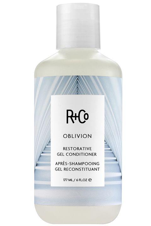 """<p><strong>R+Co</strong> Restorative Gel Oblivion Conditioner, $25, <a href=""""http://www.randco.com/oblivion-restorative-gel-conditioner.html"""" target=""""_blank"""">www.rando.com</a>. </p>"""