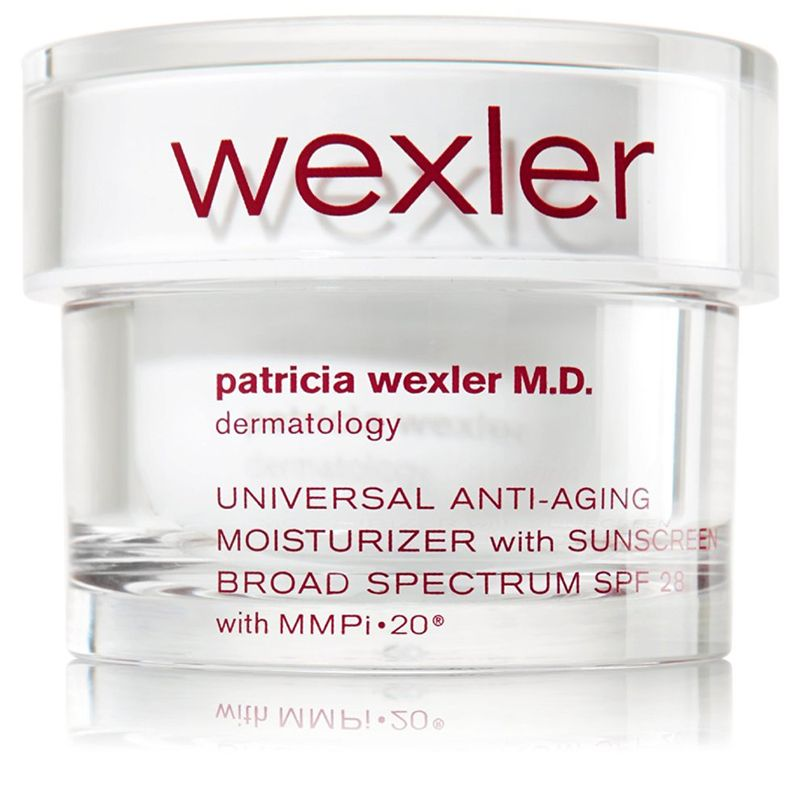 """<p>This moisturizer with SPF is my daily must have! Everyone thinks of rain when they think of London, but the sun is actually quite strong behind those clouds.</p><p><br></p><p><em>Patricia Wexler Moisturizer, $39.50, <strong><a href=""""http://www.bathandbodyworks.com/product/index.jsp?productId=21804416&cm_mmc=GooglePLA-_-Paid%2520Search-_-Shopping%2520-%2520Low%2520-%2520Performance%2520Brands_Wexler-_-_&network=g&device=c&creative=105516914293&matchtype=&adpos=1o2&gclid=Cj0KEQjwt-G8BRDktsvwpPTn1PkBEiQA-MRsBXM5X2sSN0iFTz96K2zxKOZ2c9ICJOFQ439bSsiYcFcaAtg18P8HAQ"""" target=""""_blank"""">bathandbodyworks.com</a></strong></em></p>"""