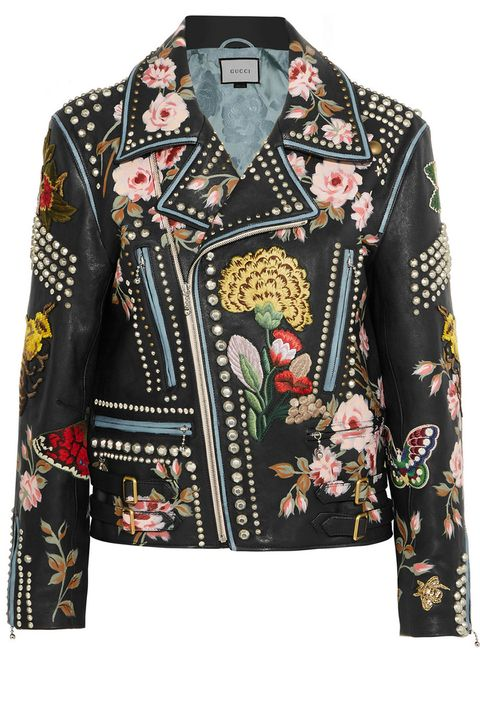 "<p>British women tend to dress in layers more due to weather, which is a good excuse for us to own fabulous statement jackets! This Gucci leather jacket is hand-embroidered and hand-painted so each one is unique.</p><p><br></p><p><em>Gucci Floral jacket, $13,000, <a href=""https://www.net-a-porter.com/us/en/product/682451?cm_mmc=ProductSearchPLA-_-US-_-Clothing-_-Jackets-Google&gclid=Cj0KEQjwt-G8BRDktsvwpPTn1PkBEiQA-MRsBfOOOf3v5pcs9SMYiYJqKCRrvoULTbE_1DeFDA404MIaAg-b8P8HAQ"" target=""_blank""><strong>net-a-porter.com</strong></a></em></p>"