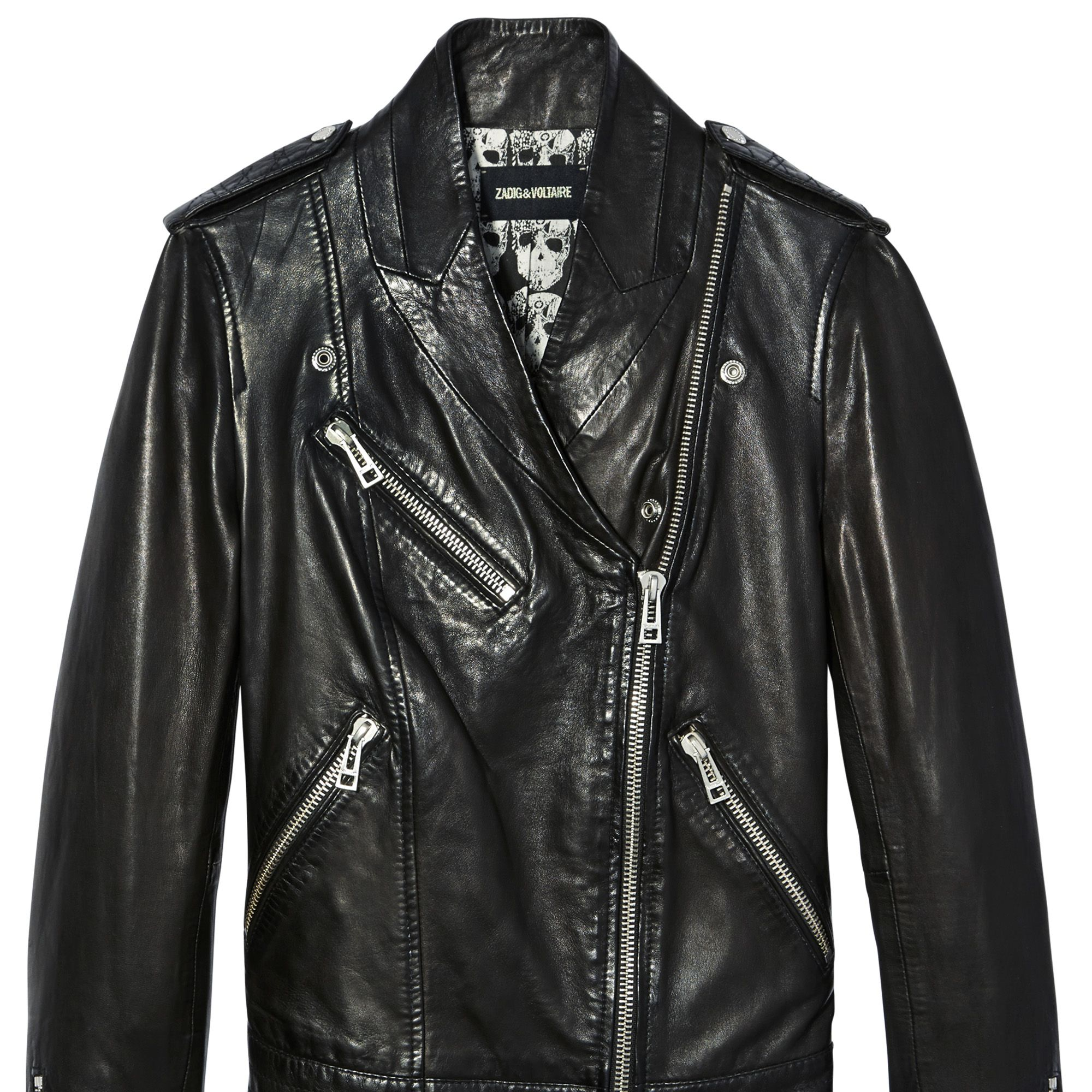 """<p><strong>Zadig & Voltaire</strong> jacket, $798,  <a href=""""http://www.zadig-et-voltaire.com/"""" target=""""_blank"""">zadig-et-voltaire.com</a>.</p>"""
