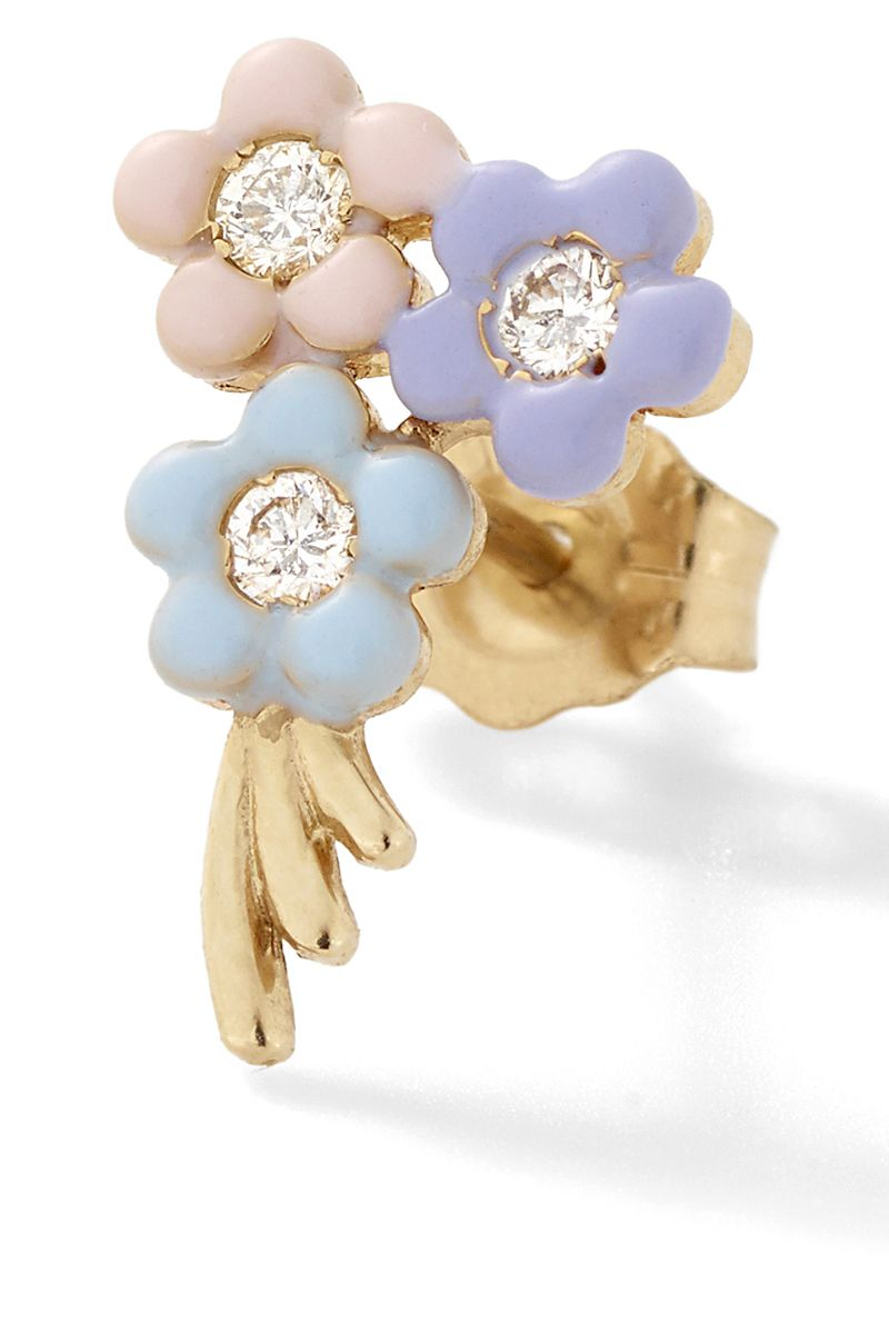 "<p><strong>Alison Lou </strong>earring, $550, <a href=""https://www.modaoperandi.com/alison-lou-fw16/bouquet-of-daisies-stud-earring"" target=""_blank"">modaoperandi.com</a>. </p>"