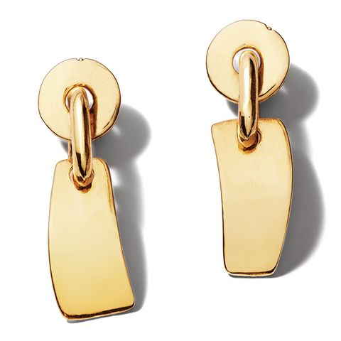 "<p><em>Lizzie Fortunato earrings (pre-order), $195, <strong><a href=""https://shop.harpersbazaar.com/designers/l/lizzie-fortunato/gold-flag-earrings-9625.html"" target=""_blank"">shopBAZAAR.com</a></strong>. </em></p>"