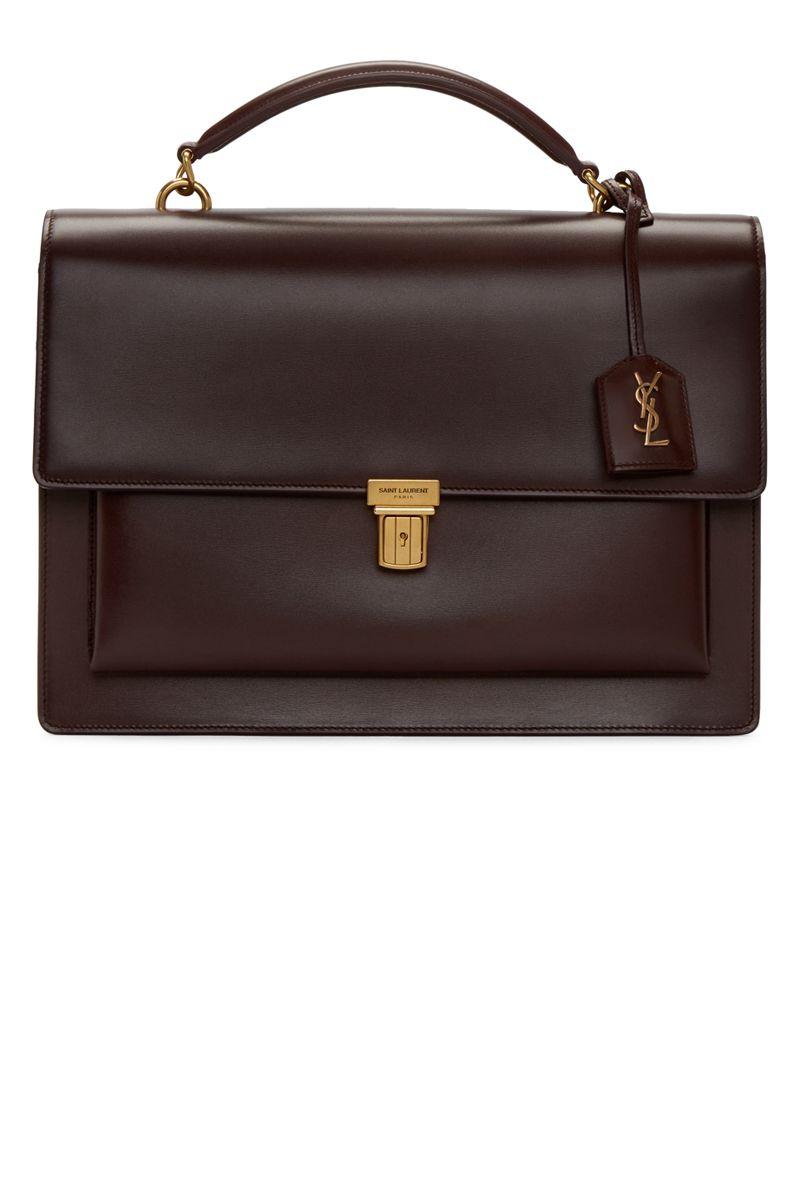 "<p><strong>Saint Laurent</strong> bag, $2,150, <a href=""https://www.ssense.com/en-us/women/product/saint-laurent/burgundy-large-high-school-satchel/1648143"" target=""_blank"">ssense.com</a>. </p>"