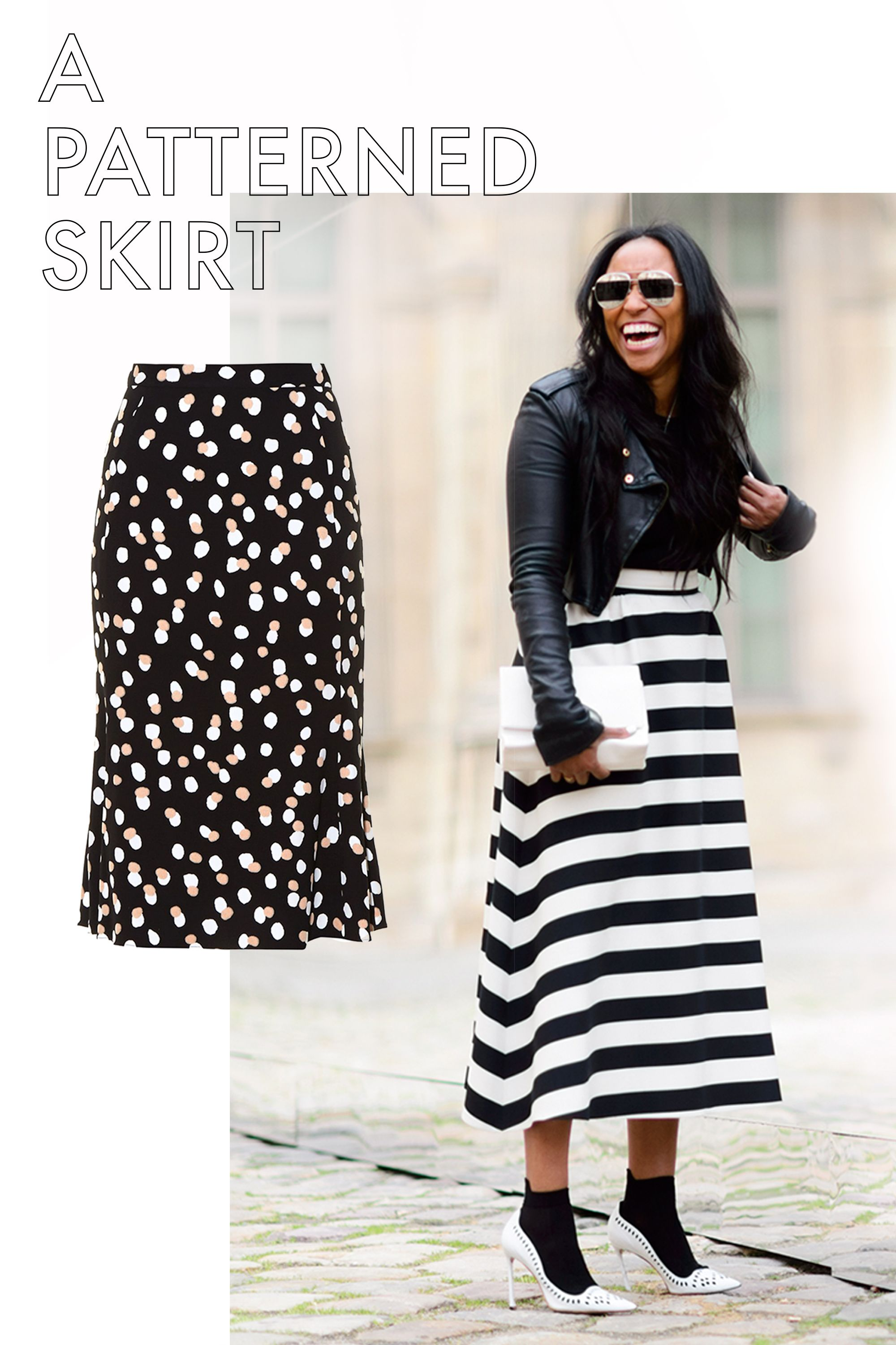 "<p>A bold print or pattern has the power to lift your spirits and your look. All over polka dots, bright florals, and stripes, for example, are all good examples of mood-boosting prints. Paired with simple basics (a white tee shirt, simple black pumps) and you've got a real look.</p><p><em>Altuzarra Novak Polka-Dot Stretch-Crepe Skirt, $1,150; <a href=""http://www.matchesfashion.com/products/Altuzarra-Novak-polka-dot-stretch-cady-skirt-1053191""></a></em><a href=""http://www.matchesfashion.com/products/Altuzarra-Novak-polka-dot-stretch-cady-skirt-1053191"" target=""_blank""><em>matchesfashion.com</em></a></p>"