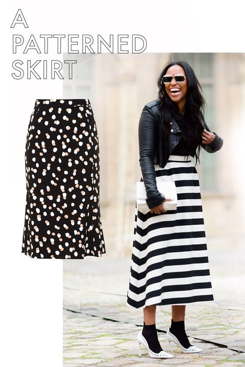 """<p>A bold print or pattern has the power to lift your spirits and your look. All over polka dots, bright florals, and stripes, for example, are all good examples of mood-boosting prints. Paired with simple basics (a white tee shirt, simple black pumps) and you've got a real look.</p><p><em>Altuzarra Novak Polka-Dot Stretch-Crepe Skirt, $1,150; <a href=""""http://www.matchesfashion.com/products/Altuzarra-Novak-polka-dot-stretch-cady-skirt-1053191""""></a></em><a href=""""http://www.matchesfashion.com/products/Altuzarra-Novak-polka-dot-stretch-cady-skirt-1053191"""" target=""""_blank""""><em>matchesfashion.com</em></a></p>"""
