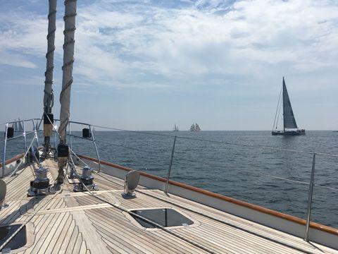Sky, Cloud, Watercraft, Boat, Sail, Deck, Sailing, Sailboat, Mast, Ocean,