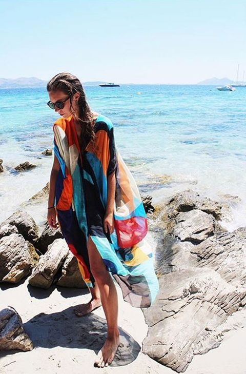 "<p><a href=""https://www.instagram.com/dearnike/"" target=""_blank"">@dearnike</a> brings tropical charm to this Euro coast in a Rodebjer cover-up. </p>"