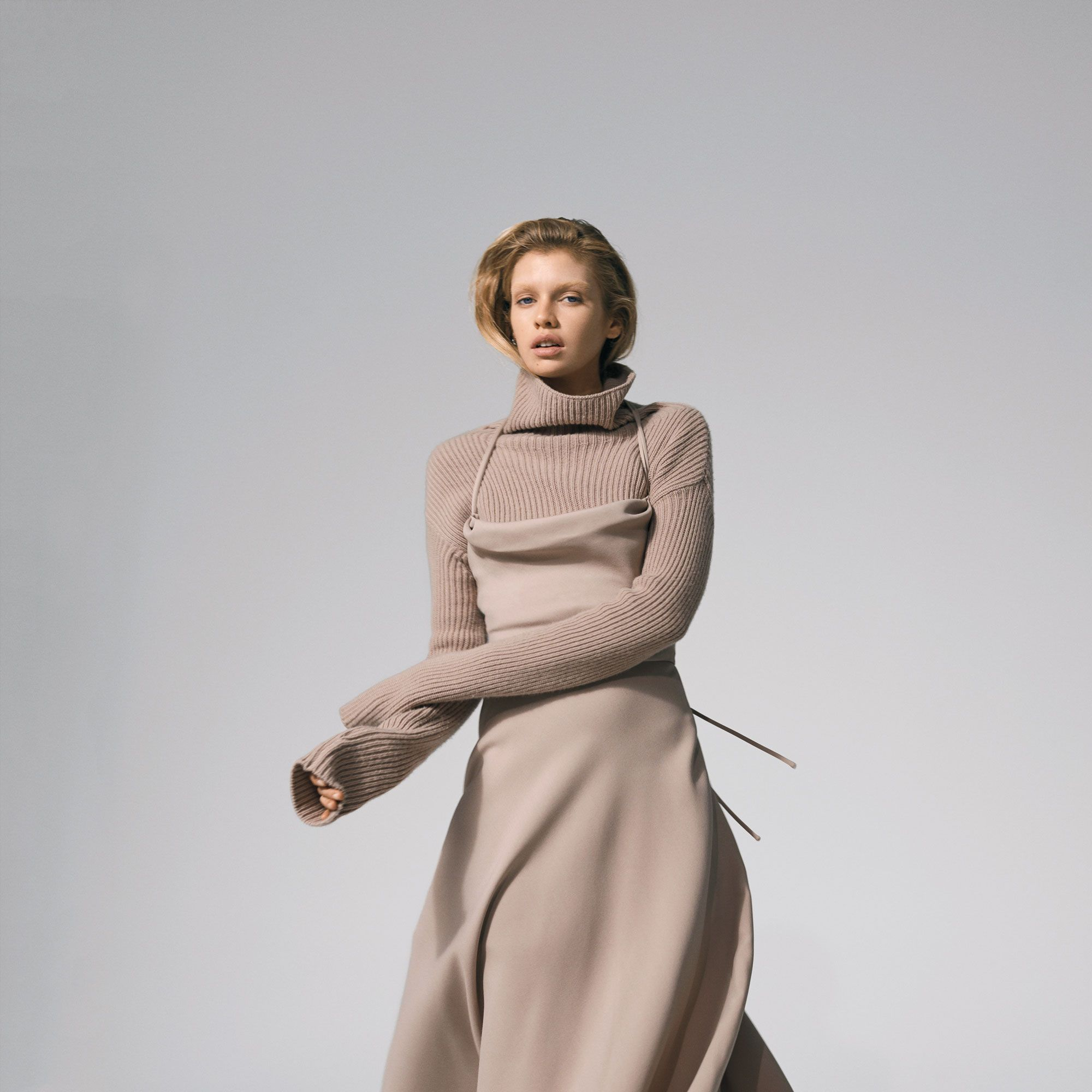 <p><strong>Valentino</strong> dress, $3,800&#x3B; and sweater, $1,750, 212-355-5811. <strong>The Row</strong> shoes, $895, 310-853-1900. </p>