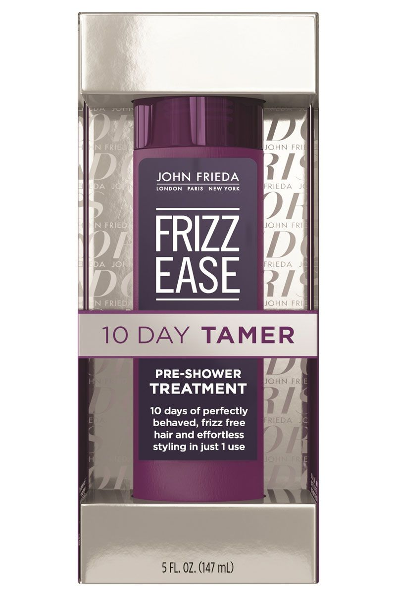 """<p>If you're a loyal Frizz Ease fan girl, you'll want to listen up. Drench dry hair with this pearly gel, let it sit for ten minutes before rinsing, then enjoy smooth, unfussy strands for more than a week. It's like a keratin, only quicker and cheaper. </p><p><strong>John Frieda</strong> Frizz Ease 10-Day Tamer, $13, <a href=""""http://www.ulta.com/frizz-ease-10-day-tamer?productId=xlsImpprod14431309&sku=2303414"""" target=""""_blank"""">ulta.com</a>.</p>"""
