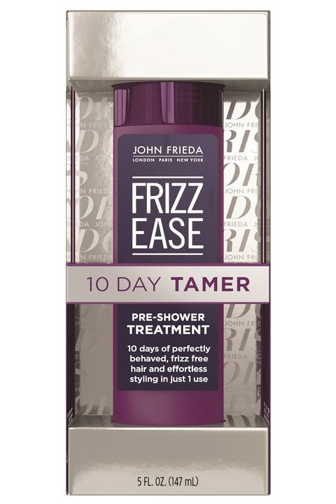 "<p>If you're a loyal Frizz Ease fan girl, you'll want to listen up. Drench dry hair with this pearly gel, let it sit for ten minutes before rinsing, then enjoy smooth, unfussy strands for more than a week. It's like a keratin, only quicker and cheaper. </p><p><strong>John Frieda</strong> Frizz Ease 10-Day Tamer, $13, <a href=""http://www.ulta.com/frizz-ease-10-day-tamer?productId=xlsImpprod14431309&sku=2303414"" target=""_blank"">ulta.com</a>.</p>"