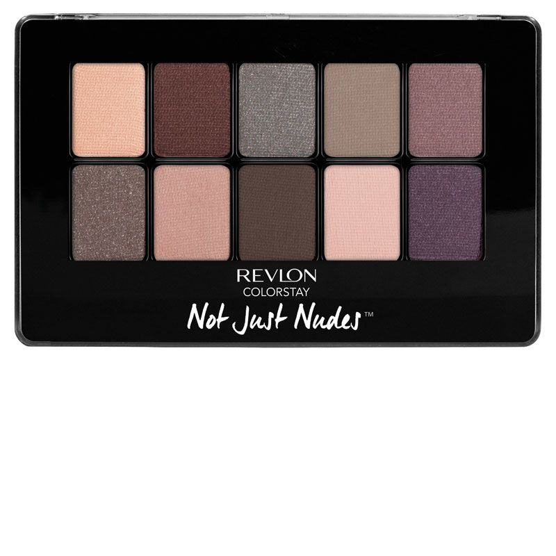 """<p>What's cool about this selection is that it's not actually nudes like you might know them. Instead, it's a mix of matte and shimmer shadows in surprising neutrals (a cashmere mauve, a subdued eggplant, a perfect pewter) to up your eye game without getting too edgy.</p><p><strong>Revlon </strong>ColorStay Not Just Nudes Shadow Palette in Romantic Nudes, $15, <a href=""""http://www.ulta.com/colorstay-not-just-nudes-palette?productId=xlsImpprod13361779#"""" target=""""_blank"""">ulta.com</a>.</p>"""