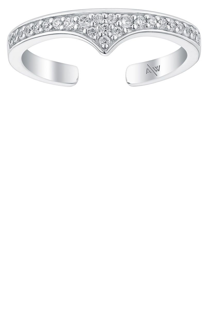"<p><strong>Amanda Wakeley </strong>ring, $40, <a href=""https://www.amandawakeley.com/rebel-midi-ring-silver"" target=""_blank"">amandawakeley.com</a>. </p>"