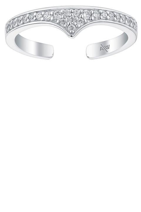"<p><strong>Amanda Wakeley </strong>ring, $40, <a href=""https://www.amandawakeley.com/rebel-midi-ring-silver"" target=""_blank"">amandawakeley.com</a>. </p>"