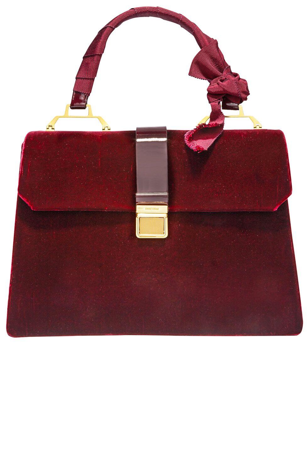 """<p><strong></strong><strong>Miu Miu</strong> bag, $2,160, <a href=""""http://www.miumiu.com/"""">miumiu.com</a>.</p>"""