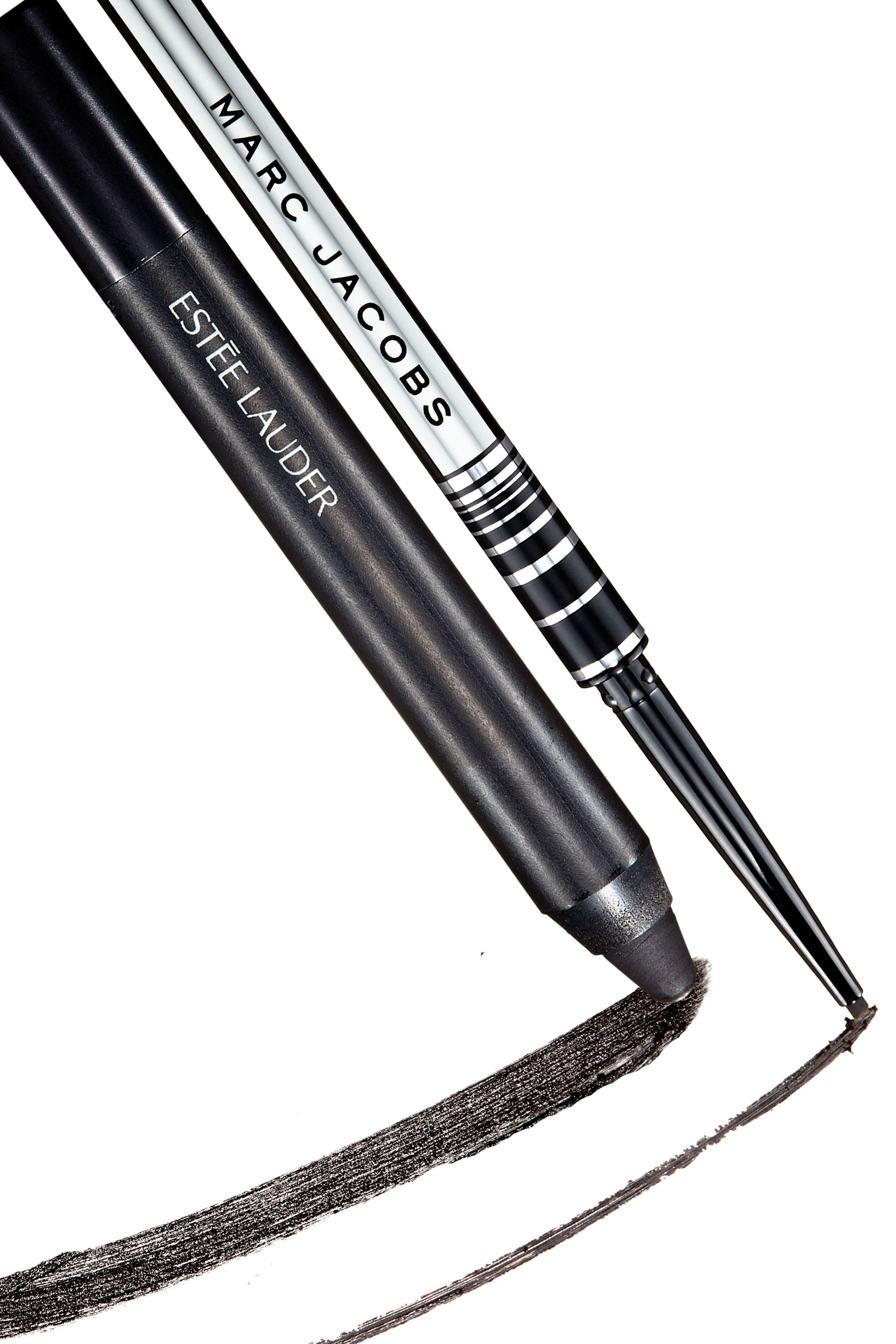 "<p><strong>Estée Lauder</strong> SuperNoir Shadow & Liner in Blackest Black, $23, <a href=""https://www.esteelauder.com/product/631/39722/Product-Catalog/Makeup/SuperNoir/Shadow-Liner"" target=""_blank"">esteelauder.com</a>; <span></span><strong>Marc Jacobs Beauty </strong>Fineliner Ultra-Skinny Gel Eye Crayon in Blacquer, $24, <a href=""http://www.sephora.com/fineliner-ultra-skinny-gel-eye-crayon-eyeliner-P404247"" target=""_blank"">sephora.com</a>. </p>"