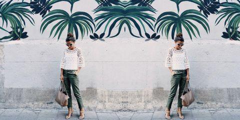 Leg, Photograph, White, Arecales, Street fashion, People in nature, Waist, Denim, Sunglasses, Snapshot,