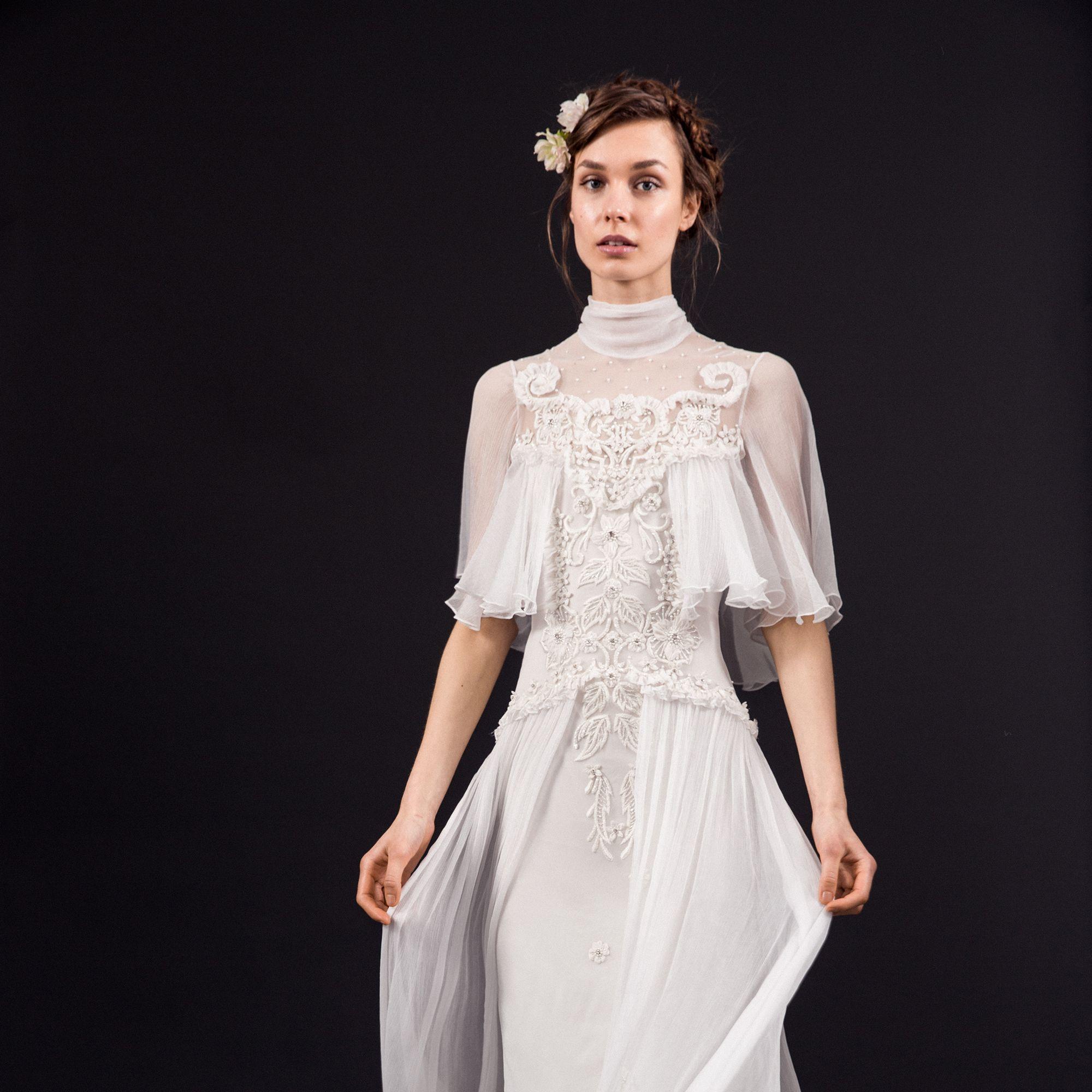 "<p>""Rowena"" gown, $4,850, <a href=""http://rams.harpersbazaar.com/temperleylondon.com"" target=""_blank"">temperleylondon.com</a>.</p>"